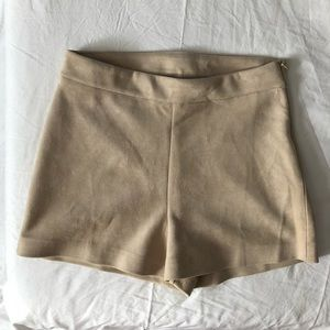 Zara High waist suede shorts